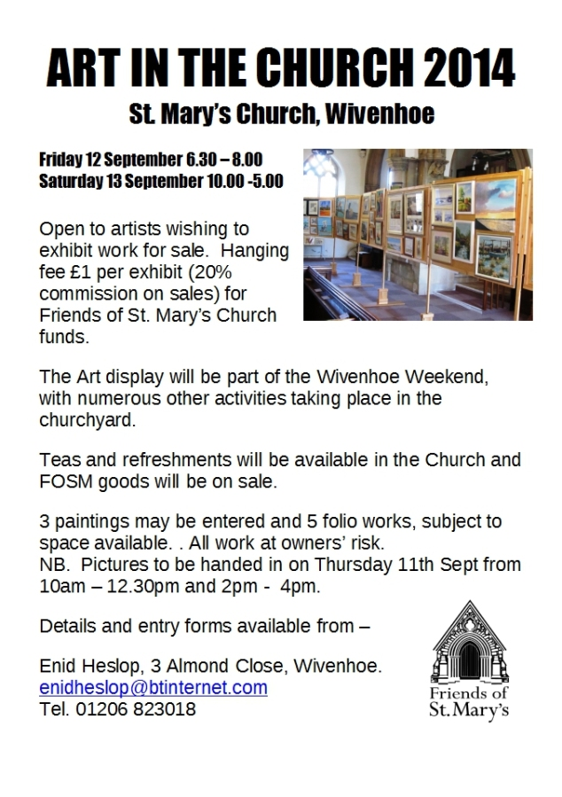 Art in the Church 2014 poster