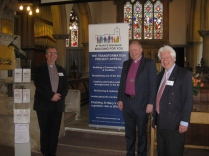 Rev Erwin Lammens, bishop Roger Morris and Peter Hill